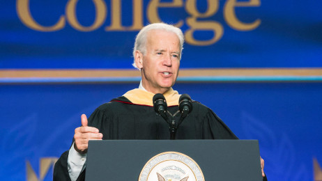 Vice President Biden delivering commencement address
