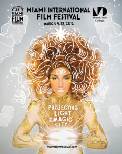 The official poster for the 33rd edition of the Miami International Film Festival