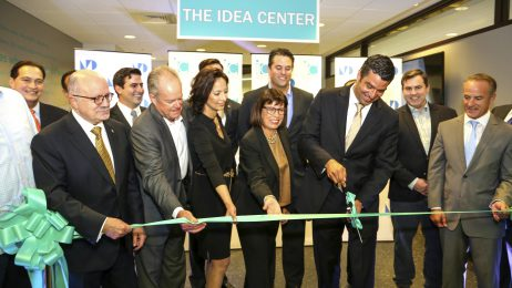 Group photo at The Idea Center opening
