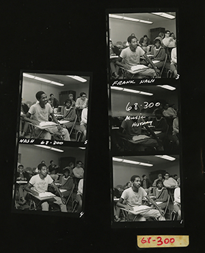 Filmstrip of scenes from a Music History classroom in 1968