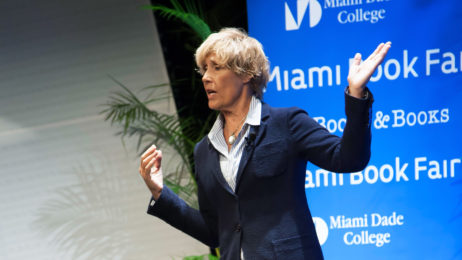 Diana Nyad speaking at the 2015 Miami Book Fair
