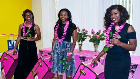 MDC scholarship recipients Alicia N. Royes, Fredricka Jean-Pierre and Alexzandria Hunter