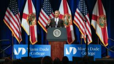 President Barack Obama speaks at Miami Dade College's Wolfson Campus