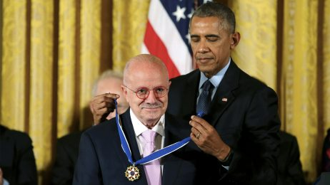 President Barack Obama awards MDC President Dr. Eduardo Padrón the Presidential Medal of Freedom during a ceremony in the East Room of the White House