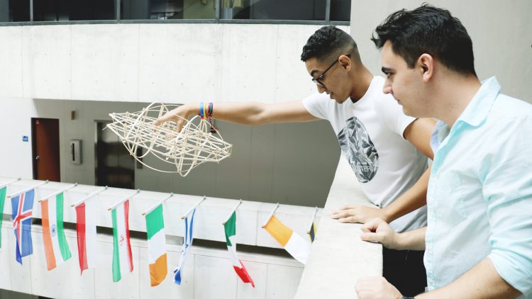 Students test their design theories in Building 1 at MDC Wolfson Campus
