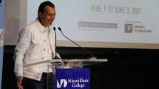 Antonio Banderas at Podium for Master Class