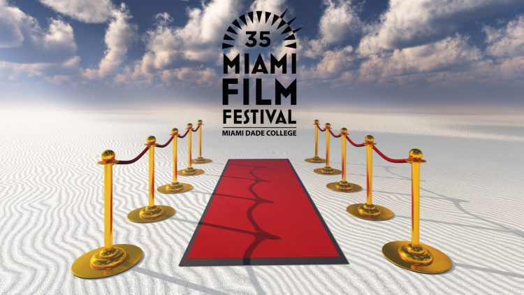 graphic: red carpet on beach