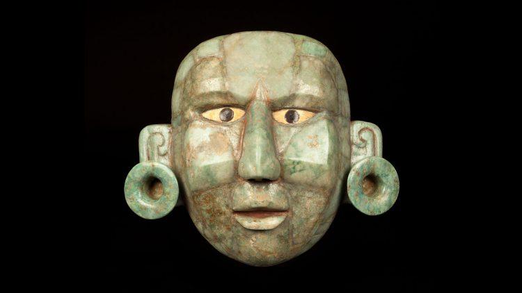 Greenstone Mosaic Mask, Mayan