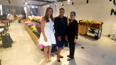 Photo of Yolanda Valencia standing with Diana Restrepo (scholarship recipient) and Ana Martinez (MDC Foundation Director of Development)