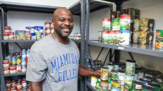 Ijamyn Gray at MDC Student Food Pantry
