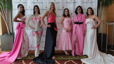 Student participants at Pop of Pink event