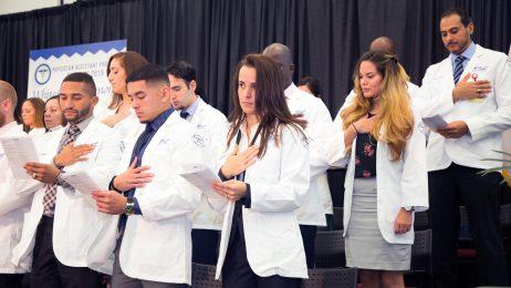 PA Graduates Taking Oath