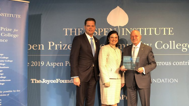 President Padron Receives Aspen Award