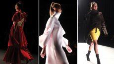 Models on runway show