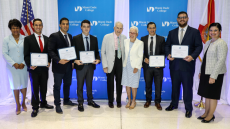 Group photo with Eig Watson scholarship recipients
