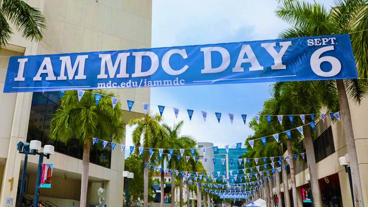 Photo of I AM MDC Day Sept. 6th banner