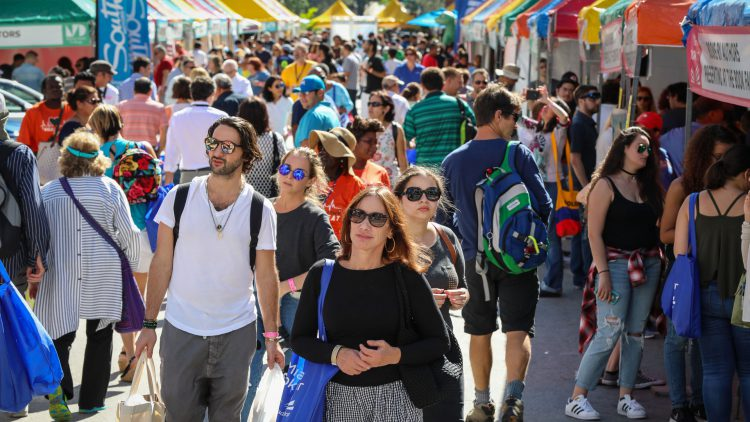 Crowds at the Street Fair