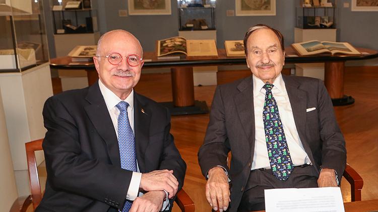 Photo of Dr. Eduardo J. Padrón with Jay Kislak