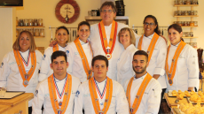 Culinary students during summer program in France