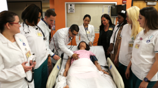 MDC nursing students practicing medical procedure