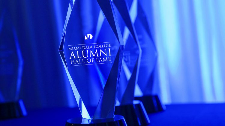 Close-up of MDC Alumni Hall of Fame Award