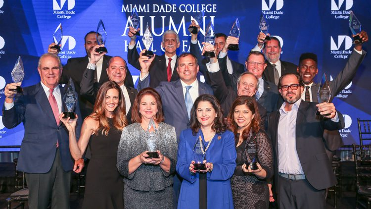 Group photo of 2017 MDC Alumni Hall of Fame Inductees