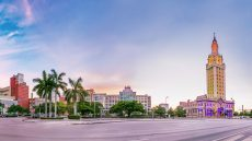 Biscayne Boulevard featuring the Freedom Tower and MDC's Building 3