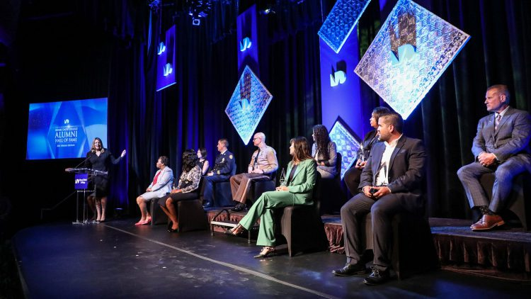 Honorees on stage at MDC Hall of Fame Awards Ceremony